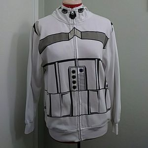 Star Wars stormtrooper zip up hoodie